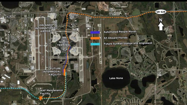 All Aboard Florida has pushed its Orlando portion of the $1.5 billion, 240-mile intercity passenger rail into a Phase 2 that would debut in 2017, thanks in part to slower plans to build a new terminal at Orlando International Airport.