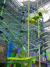 Mall of America's new Barnacle Blast zip line will begin at the Dutchman's Deck ropes course in Nickelodeon Universe.