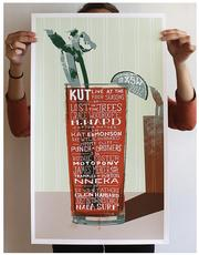 """In the """"collateral material"""" category, The Ampersand Agency's work for KUT-FM -- specifically the """"SXSW Bloody Mary"""" poster -- was worth a gold ADDY."""