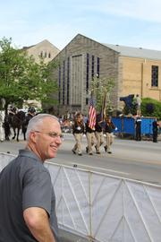 Republic Bank chairman and CEO Steve Trager enjoys the parade.