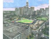 And a rendering by Risden showing the proximity of Woodfield's project (bottom left corner) to BB&T Ballpark.