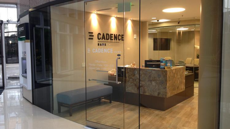 Cadence Bank branch adjacent to the Intercontinental Hotel in Tampa