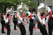 The University of Louisville Marching Band showed off their dance moves.