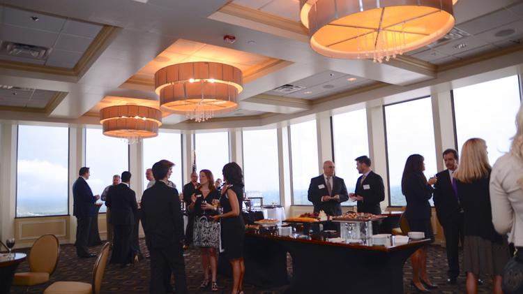 C-Level honorees arrive at the Citrus Club ballroom for the networking event.