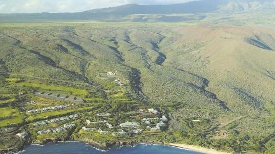 A aerial view of Lanai, where a new food and wine festival is in the works.
