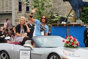 Country music artist J.D. Shelburne was a featured guest at Celebrity Day at the Downs Thursday afternoon and also rode in the Pegasus Parade.