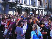 Once in the park, fans waited up to six hours to get into Diagon Alley.
