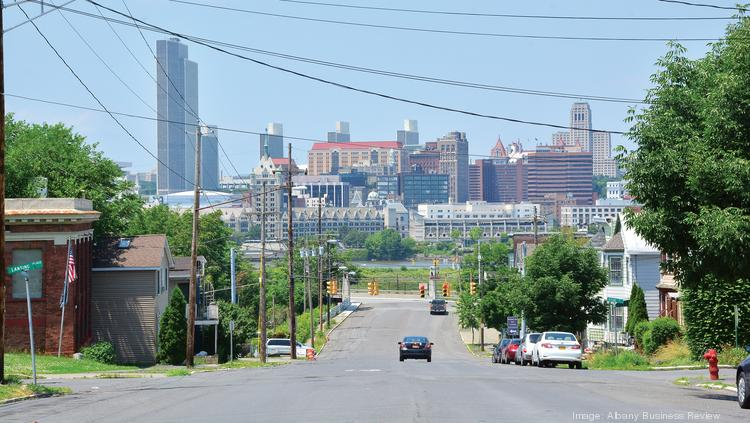 One of Rensselaer, New York's selling points to developers: stunning views of Albany's skyline.