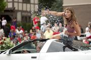 "Will Heuser from ""Big Brother"" on CBS threw glittered confetti of his own during the parade."