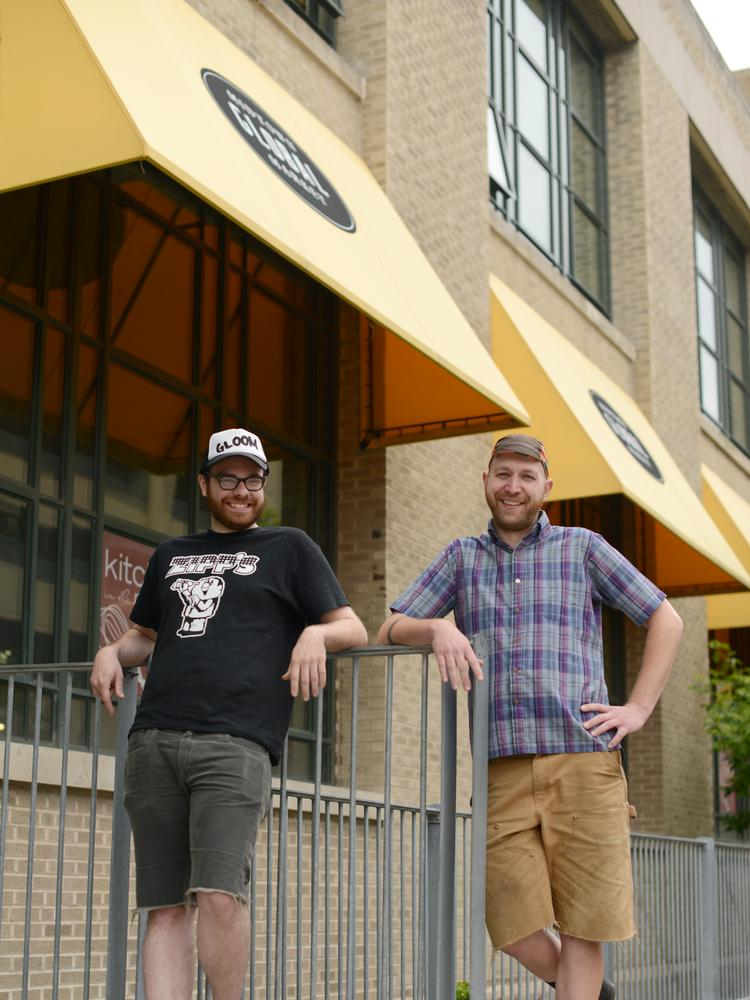 """Tristan Jimerson, left, and Daniel Laeger-Hagemeister, co-founders of Taco Cat, launched the eatery as a hobby. It's turning into a grown-up business, but also a """"fluid"""" one."""