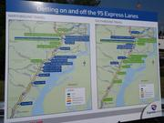 The I-95 Express Lane on and off ramps are seen here. The $1 billion toll lanes are scheduled to open in early 2015.