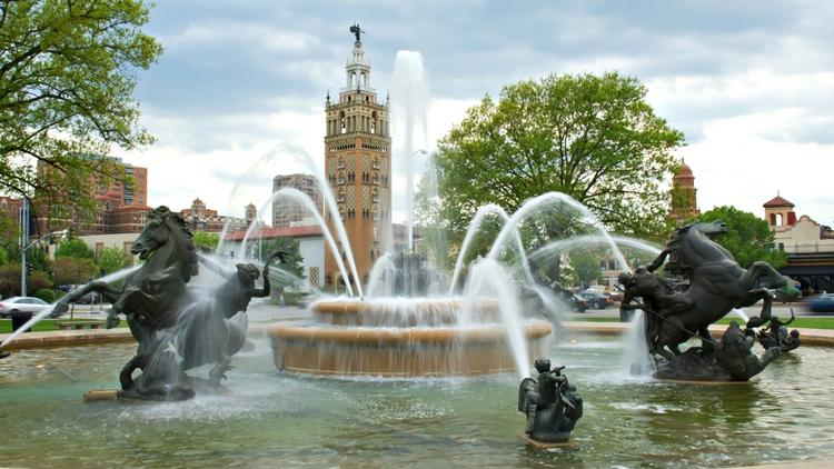 J.C. Nichols Memorial Fountain on Kansas City's Country Club Plaza is one of the fountains needing critical repairs.