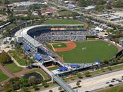 A current aerial shot of Steinbrenner Field.