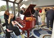 Music from the South Florida Symphony Orchestra greeted attendees, who had champagne before lunch.