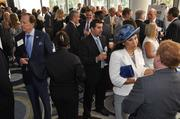 Attendees had a chance to network in the atrium area at the Hyatt Regency Pier Sixty-Six Resort in Fort Lauderdale.