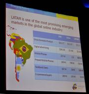 Sanchez used this slide to show how big the Latin American market is. EMerge Americas is designed to capitalize on South Florida as the cross roads of trade.
