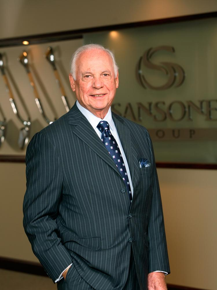 Anthony Sansone Sr. has grown commercial real estate firm The Sansone Group to $240.8 million in transaction volume since starting the business in 1957.