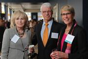 Honoree Julie Brooks of Conceptus, on right, with Stackmaster Engineering Corp,'s Gerd Bode and Conceptus' Kathryn Tunstall.