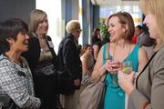 Honorees and guests mingled outside the Fairmont San Jose ballroom on Thursday evening.