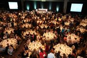 Tables filled up for the awards dinner and ceremony.