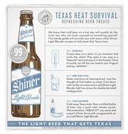 McGarrah Jessee's print ads for Shiner Light Blonde won a gold ADDY in the newspaper category.
