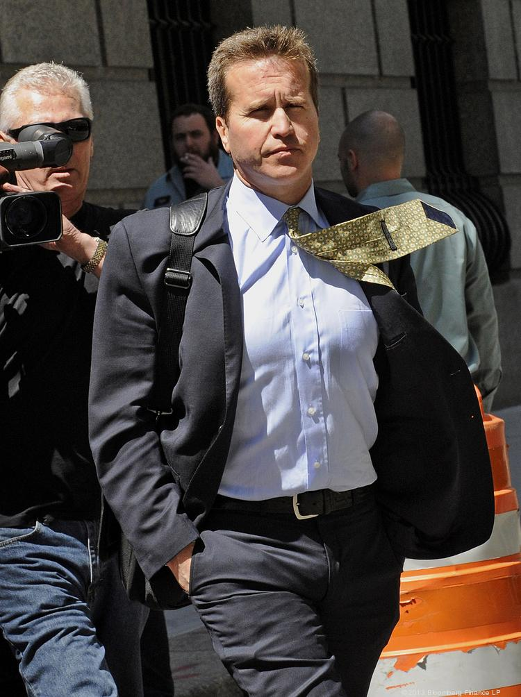 Todd Newman exits federal court in New York on May 2 where he was sentenced to more than four years in prison for his role in an insider-trading scheme that the U.S. said reaped $72 million.