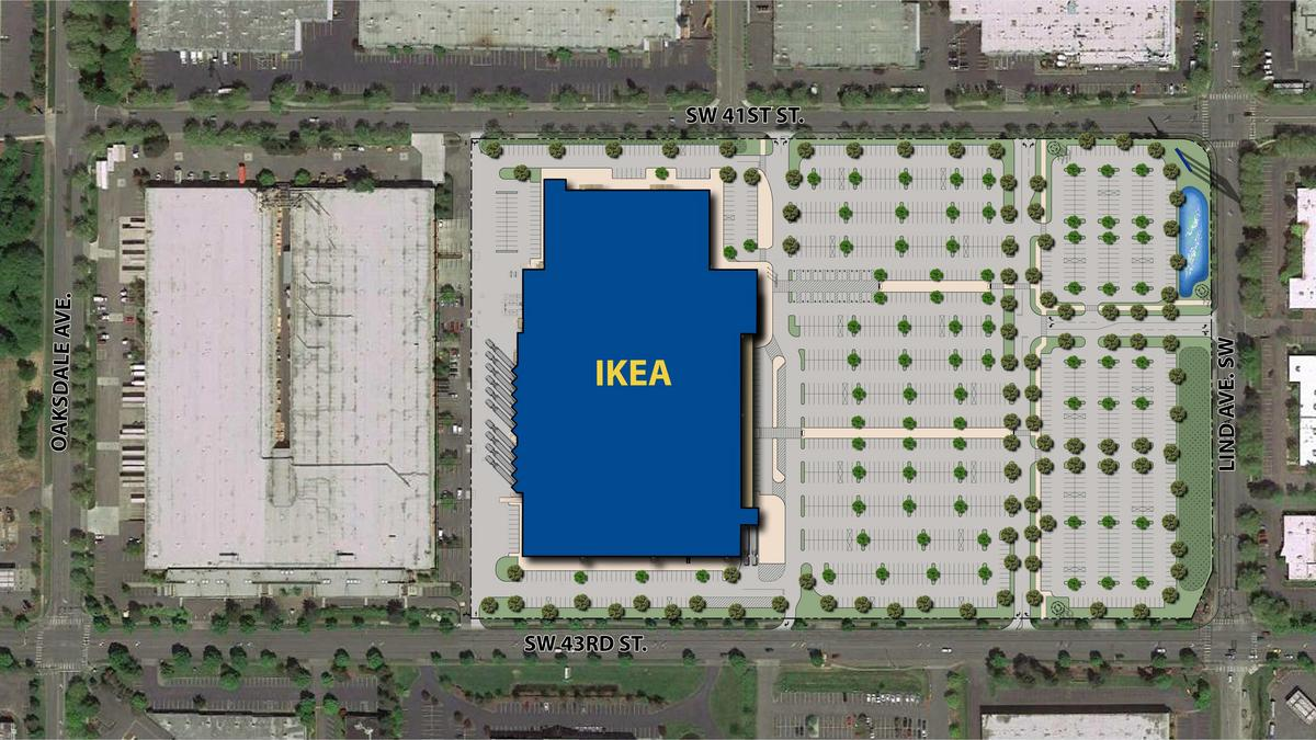 2 floors modern layout what to expect at ikea 39 s new for Ikea seattle ameublement renton wa