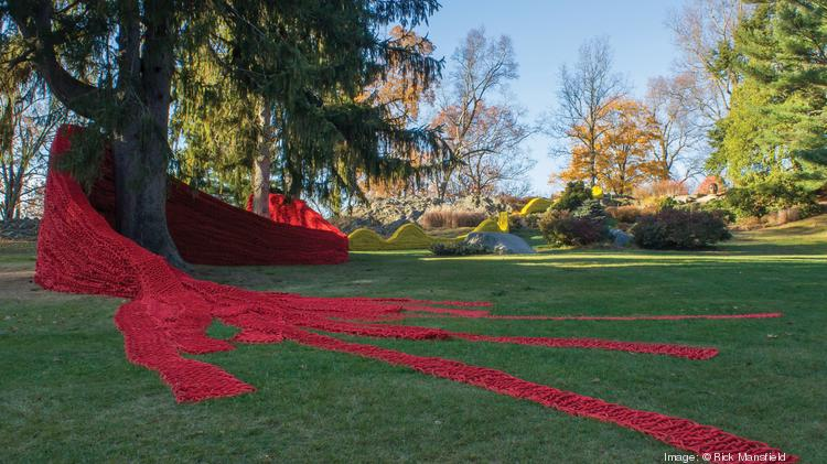 """""""Red, Yellow and Blue"""" by Orly Genger at deCordova Sculpture Park and Museum"""
