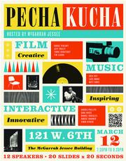 """Also in the """"advertising for the arts and science"""" category, McGarrah Jessee won a gold ADDY for Pecha Kucha Austin posters."""