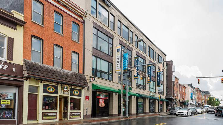 Caves Valley Partners has placed 1111 Light St. in Federal Hill on the market.