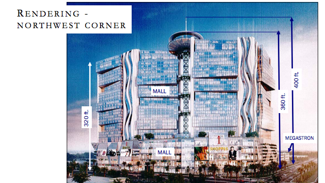 This rendering shows some of the changes the developer made to the proposed iSquare Mall & Hotel project.