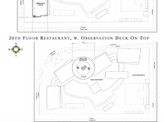 Proposed iSquare Mall & Hotel project floor plan for the hotel rooftop and top-level restaurant and observation deck.