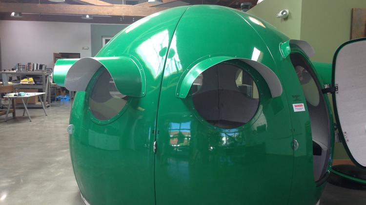 Amplify shares shares an office with the industrial design firm Gearhead Associates. This office igloo provides a quiet place to meet or take a phone call.