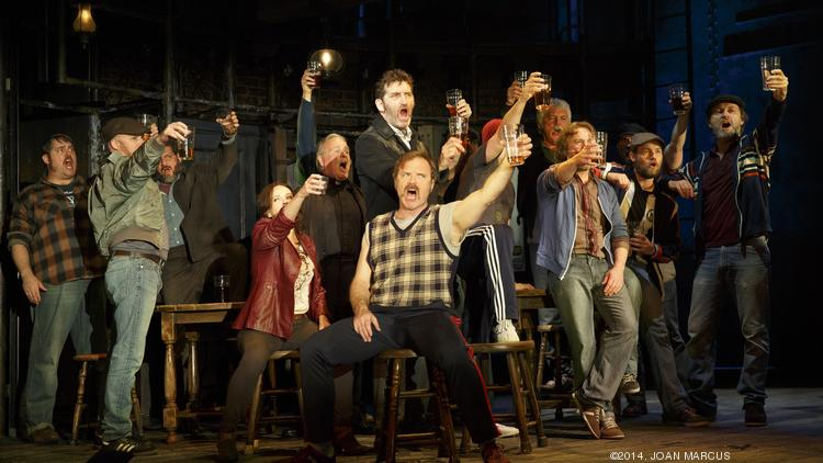 """The cast of Sting's """"The Last Ship"""" raises a glass. The show ended its world premiere run at the Bank of America Theatre in Chicago on Sunday."""