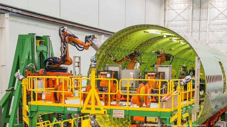Boeing and Kuka, a German robot builder, have been developing the new approach in this Anacortes facility.