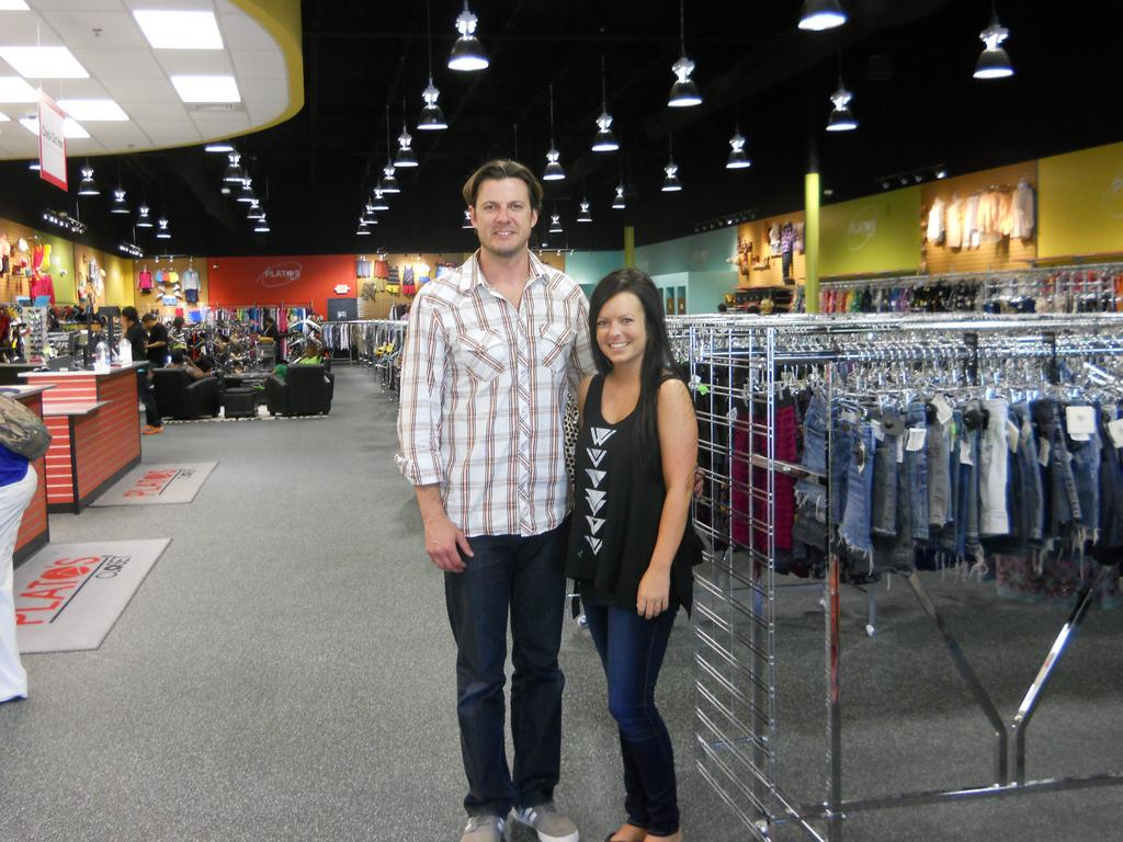 Co Owner Grady Farmer And Store Manager Kari Schlappich At The Platou0027s  Closet Mega Store