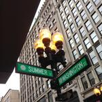 Boston installing illuminated street signs in Downtown Crossing