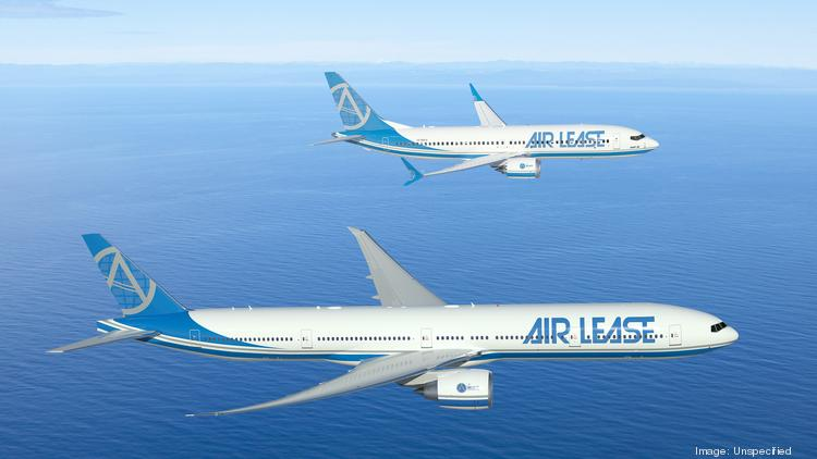 At the London air show, Air Lease Corp. Boeing said Air Lease Corp. ordered six 777-300ER (bottom) and 20 737 Max 8 airplanes (top) worth $3.9 billion at list prices.