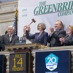 For anniversary, Greenbrier has a bell of a good time at NYSE (Photos)