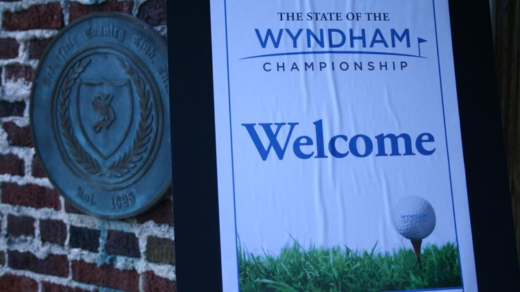 The Triad Business Journal's State of Wyndham event at Sedgefield County Club drew more than 100 to hear about the tournament, which celebrates its 75th year this year.