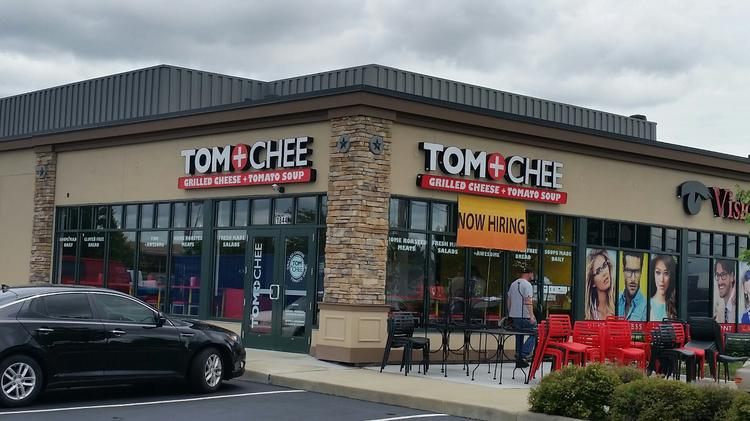Tom & Chee is opening its second Central Ohio restaurant at 1844 Hilliard-Rome Road on Friday.  Click on the following images for a look at the Hippy Chee sandwich and some grilled cheese doughnuts.
