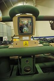 These devices help scan and identify the soldier that the Squad Mission Support System is programmed to follow and to allow a distant controller to operate the vehicle by remote control.