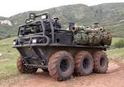 Lockheed's Squad Mission Support System shown loaded with all the gear a U.S. Army squad will need.