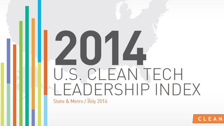 The 2014 Clean Tech Leadership Index analyzes all 50 states for their investment, technology usage and policies surrounding the clean tech industry.