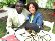 Houston residents Laolu Temitan, a real estate and government consultant, and Reagan Flowers came to Louisville to experience Derby. They enjoyed the garden party at the Warrens' DuPont Mansion bed and breakfast. They are Derby guests of Mark and Barb Lechner.