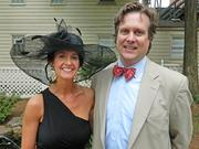 Meredith and Todd Carbrey came down from Indianapolis to enjoy Derby festivities in Louisville.