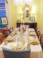 Paintings by Louisville artists Ken Boatright and Donna Chancellor added to the Derby atmosphere at the DuPont Mansion.