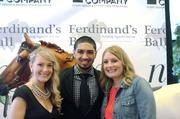Ferdinand's Ball founders Aimee Boyle Wulfeck and Kim Boyle pose with Peyton Siva.