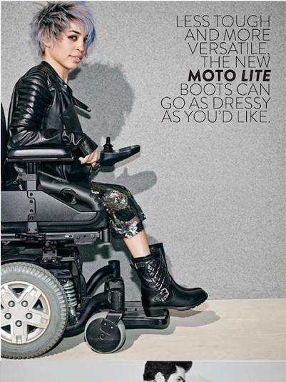 Nordstrom's July catalog features two models with disabilities.