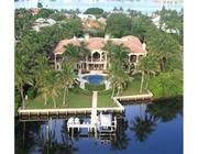 Aerial view of the back of 1450 Paslay in Manalapan